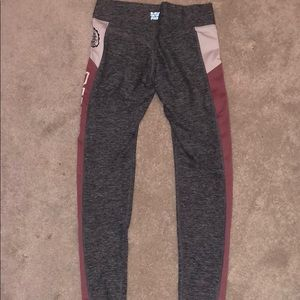 Victoria's secret pink and grey leggings w pockets